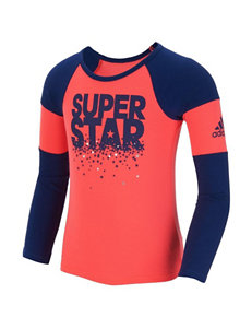 adidas® Super Star Racing Raglan Top - Girls 2-6x