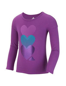 adidas Heart Print Top - Toddlers & Girls 4-6x