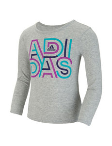 adidas® Multicolor Logo Top - Girls 2-6x