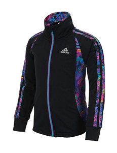 Adidas® Score Keeper Abstract Color Block Zip Jacket - Girls 2-6x