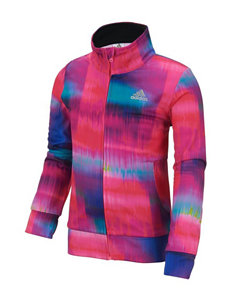 adidas® Abstract Print Tricot Jacket - Girls 2-6x