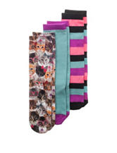 Capelli 3-pk. Kitten & Striped Print Knee High Socks - Girls