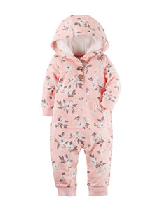Carter's® Floral Print Terry Coverall - Baby 0-12 Mos.