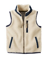 Carters® Ivory Sherpa Vest - Toddler Boys