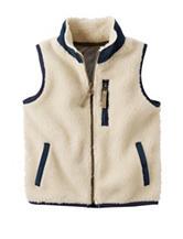 Carters® Ivory Sherpa Vest - Boys 4-8