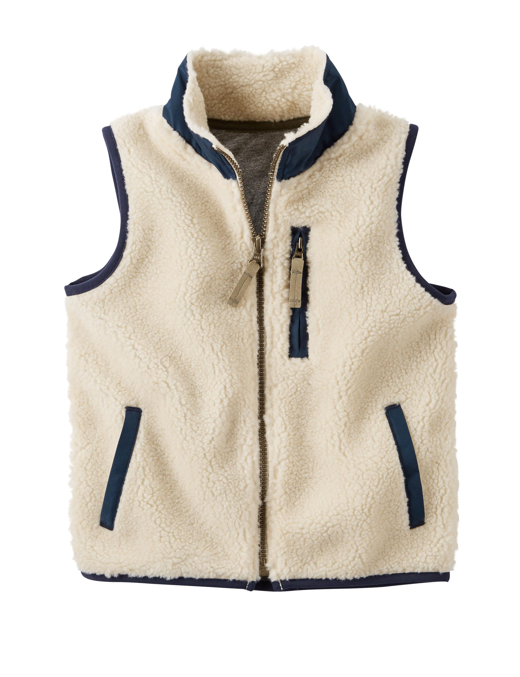 Carter's Ivory Puffer & Quilted Jackets