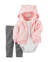 Carter's® 3-pc. Pink Sherpa Cardigan Set - Baby 0-18 Mos.