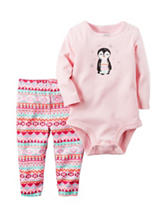 Carter's® 2-pc.Penguin Bodysuit & Pants Set - Baby 0-24 Mos.