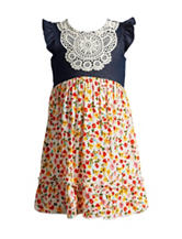 Youngland Crochet Appliqué Dress - Toddlers & Girls 4-6x