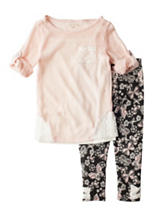 Self Esteem 2-pc. Butterfly Print Leggings Set - Girls 4-6x