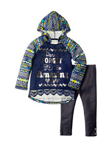 Self Esteem 2-pc. Be Amazing Hoodie Top & Jeggings Set - Girls 4-6x