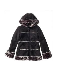 Pink Platinum Faux Fur Bomber Jacket - Girls 7-16