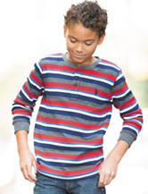U.S. Polo Assn. Multicolor Striped Print Thermal Shirt - Boys 8-20