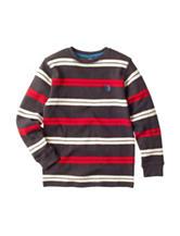 U.S. Polo Assn. Striped Print Thermal Shirt - Boys 8-20