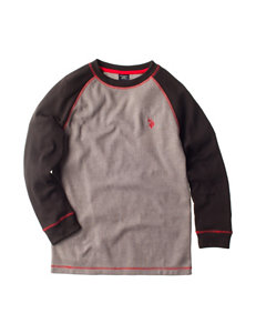 U.S. Polo Assn. Thermal Color Block Raglan Shirt - Boys 8-20