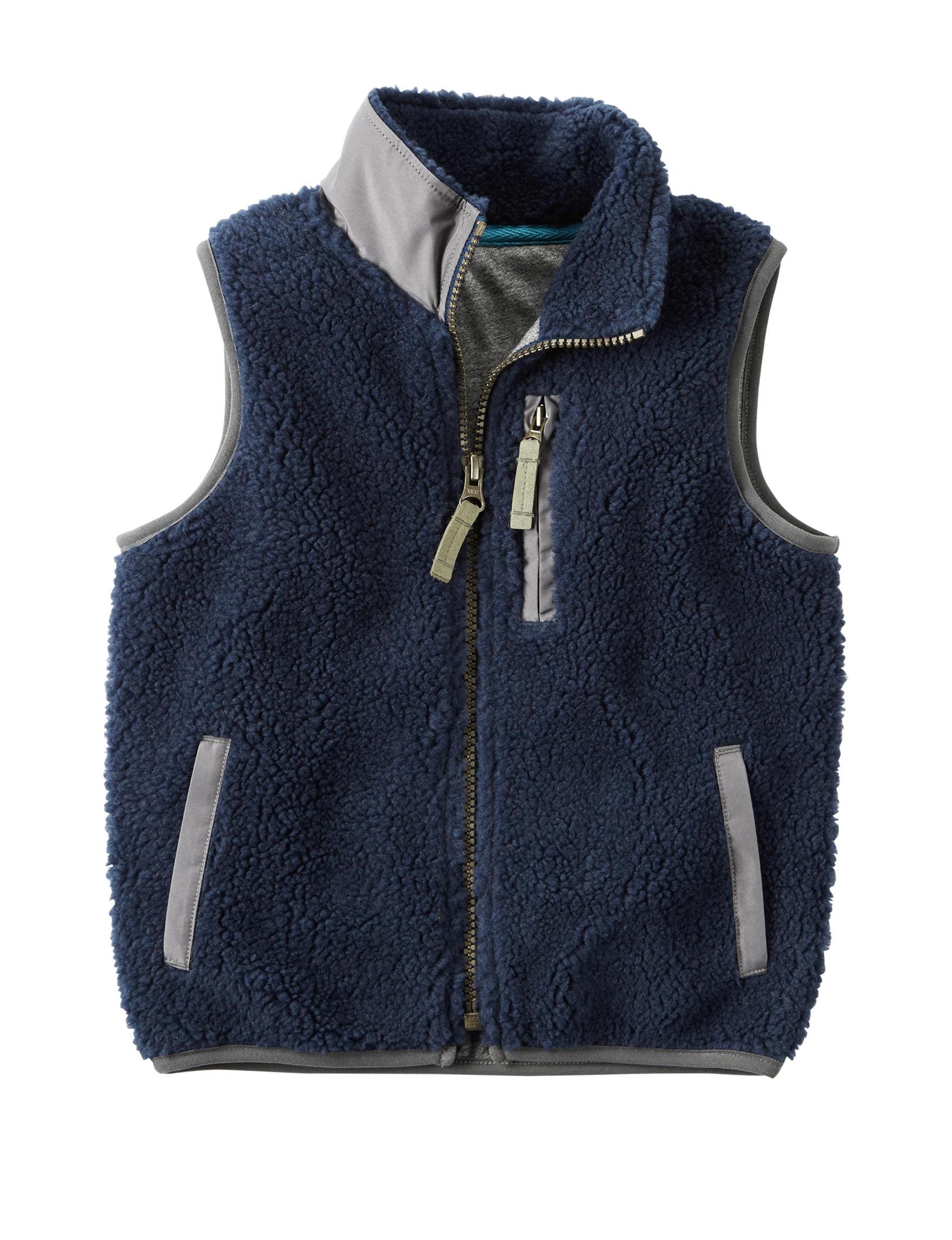 Carter's Navy Fleece & Soft Shell Jackets