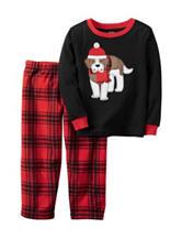 Carter's® 2-pc. Winter Ready Dog Print Pajama Set - Toddler Boys