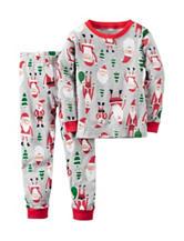 Carter's® 2-pc. Santa Tree Pajama Set – Toddler Boys