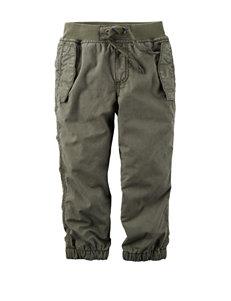 Carter's® Green Poplin Pants - Toddler Boys