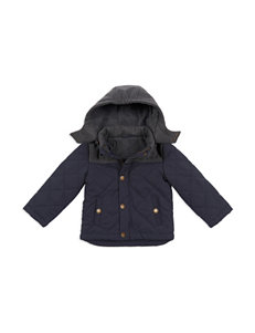 London Fog Hooded Quilted Jacket - Boys 4-7