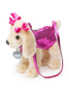 Poochie & Co. Pink Sequin Labrador Dog Bag