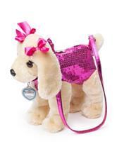 Poochie & Co. Pink Sequin Labrador Dog Bag