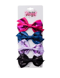 On The Verge 4-pk. Sequin Bows