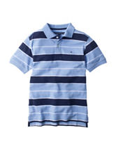 Tommy Hilfiger Nick Blue Striped Polo Shirt - Boys 8-20