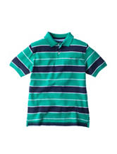 Tommy Hilfiger Nick Green & Navy Striped Polo Shirt - Boys 8-20