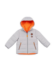 OshKosh B'gosh Silver & Orange Bubble Jacket – Boys 4-7