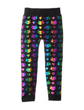 Wishful Park Kitty Foil Leggings - Girls 4-6x