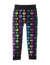 Wishful Park Kitty Foil Leggings - Girls 4-6x
