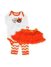 Baby Essentials 3-pc. Turkey Day Tutu & Leggings Set - Baby 3-9 Mos.