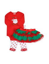 Baby Essentials 3-pc. My 1st Christmas Tutu & Leggings Set - Baby 3-9 Mos.