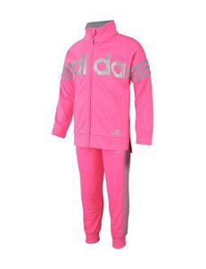adidas® 2-pc. Tricot Jogger Pants & Jacket Set - Girls 2-6x