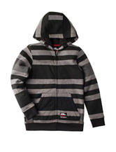 No Fear Grey Striped Sherpa Jacket - Boys 8-20