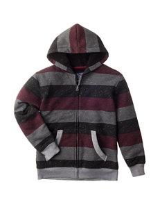 Pacific Blue Striped Sherpa Jacket - Boys 8-20