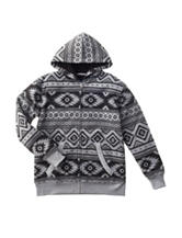 Pacific Blue Aztec Print Sherpa Jacket - Boys 8-20