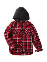No Fear Plaid Hooded Flannel Shirt - Boys 8-20