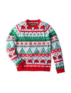 Machine Mixed Christmas Print Sweater - Boys 8-20