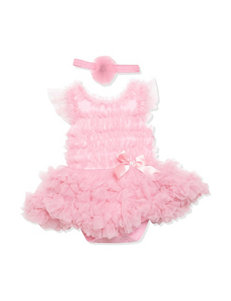 Baby Essentials Pink Tutu Dress with Headband - Baby 3-9 Mos.