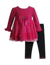 Youngland 2-pc. Soutache Top & Legging Set - Baby 12-24 Mos.
