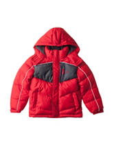 U.S. Polo Assn. Chest Block Puffer Jacket - Toddlers & Boys 4-7