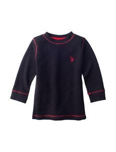 U.S. Polo Assn. Black Thermal Shirt - Toddler Boys