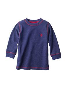 U.S. Polo Assn. Blue Thermal Shirt - Toddler Boys