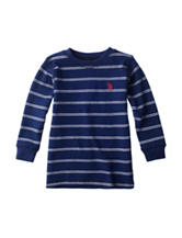 U.S. Polo Assn. Striped Print Thermal Shirt - Boys 4-7