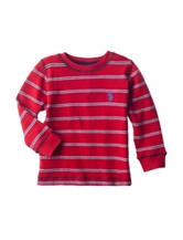 U.S. Polo Assn. Multicolor Striped Print Thermal Shirt - Boys 4-7