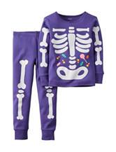 Carter's® 2-pc Skeleton Glow In The Dark Pajama Set – Girls 4-8