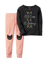 Carter's® 2-pc. So Cute It's Scary Pajama Set – Toddler Girls
