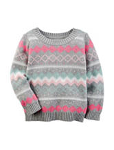 Carter's® Fair Isle Print Sweater - Toddler Girls